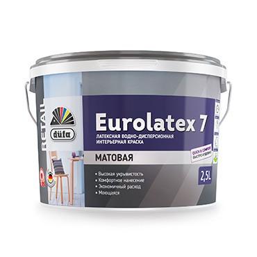 """""""DufaRetail"""" ВД краска EUROLATEX 7,   2,5"""